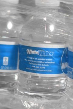 advertise on water bottles for business or brand